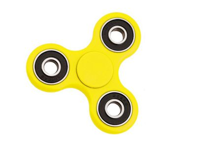 Yellow Hand Spinner Fidget Finger Toy ADHD Stress Relief