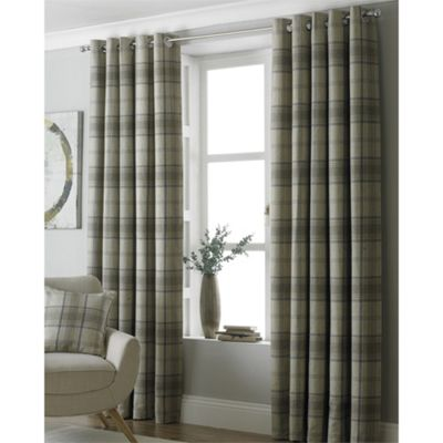 Aviemore Natural Eyelet Curtains - 46x54 Inches (117x137cm)