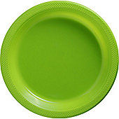 Lime Green Serving Plates - 26cm Plastic - 50 Pack