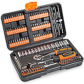 VonHaus 130pc Socket + Bit Set