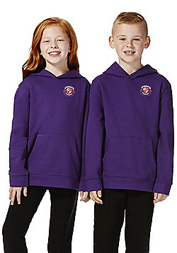 Unisex Embroidered School Hoodie with As New Technology - Purple
