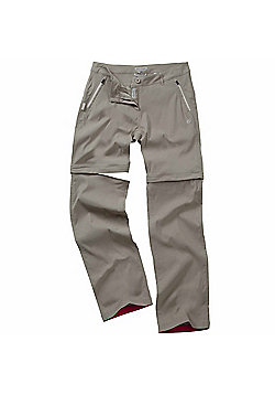 Craghoppers Ladies Kiwi Prostretch Convertible Trousers - Grey