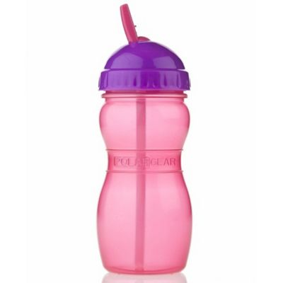 Polar Gear Aqua Sip Flip Top Bottle 350ml Pink