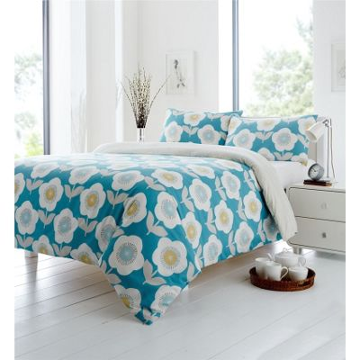 Fusion Ellon Teal Duvet Cover Set - Double