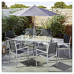 Tesco Andalucia 8 Piece Grey Garden Dining Set