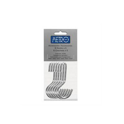Hahn Metro Wall Rail set of 6 Hooks