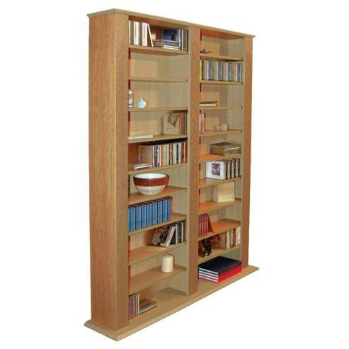 Techstyle Multimedia CD / DVD Storage Shelves - Oak