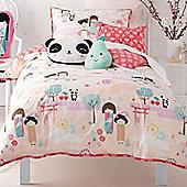 Oriental Panda Toddler / Junior Bedding Bundle 4.5 Tog 120 x 150