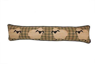Woven Magic Primitive Sampler Antique Plaids Sheep Draught Excluder