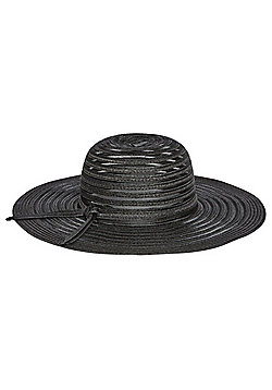F&F Foldable Wide Brim Sun Hat - Black