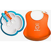 BabyBjorn Feeding Set (Orange/Turquoise)