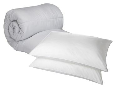 King Duvet 4.5 Tog Polycotton And Hollowfibre Pillow Pair