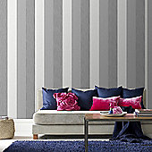 Superfresco Java Textured Stripe Grey Wallpaper