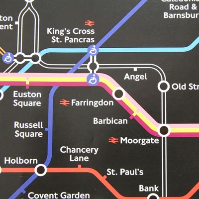 Gift Wrap - London Underground Map - Black