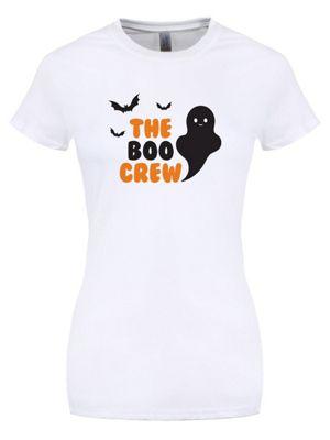 The Boo Crew Women's White Halloween T-shirt