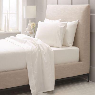 Sheridan 1000 Thread Count Cotton Sateen Snow Fitted Sheet - Double