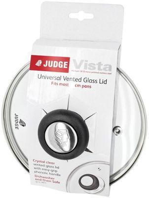 Judge Vista Toughened Replacement Glass Vented Saucepan Pan Lid 30cm