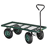 Palm Springs Heavy Duty Flatbed Garden Trolley / Wheelbarrow