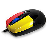Accuratus Junior Mouse - Optical - Cable - Black