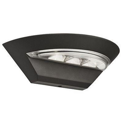 OUTDOOR LED SEMI-CRICLE WALL BRACKET - DARK GREY