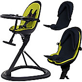 ickle bubba Orb+ Highchair (Black/Green)
