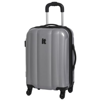 Buy IT Luggage Hard Shell 4-Wheel Suitcase, Silver Small from our ...