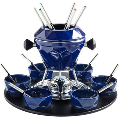 VonShef 23pc Rotating Cast Iron Fondue Set