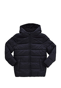 F&F Fleece Lined Padded Jacket - Black