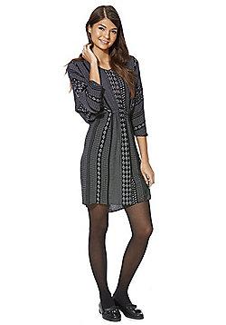 Jacqueline De Yong Scarf Print Batwing Sleeve Dress - Black