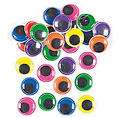 Jumbo Coloured Wiggle-Eyes for Kid's Cards Crafts and Modeling (Pack of 60)