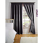 Hamilton McBride Thermal Backed Pencil Pleat Curtains - Black