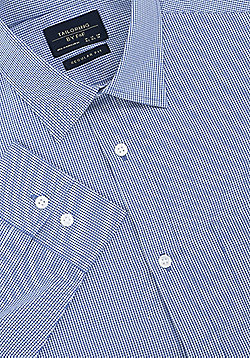 F&F Gingham Regular Fit Long Sleeve Shirt - Blue
