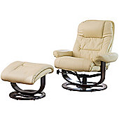 Sofa Collection Canmore Swivel Chair And Footstool With Massage and Heat Function - Cream