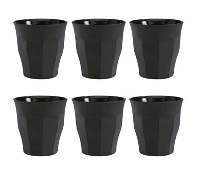 Duralex Picardie Glass Tumblers in Soft Touch Black | Set of 6 | 250ml