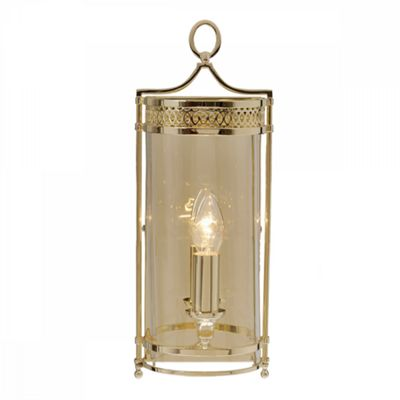 Polished Brass Wall Light - 1 x 60W E14