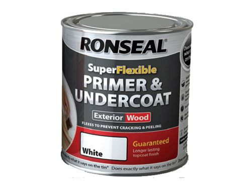 Ronseal Super Flexible Wood Primer & Undercoat White 750ml