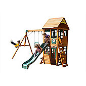 Selwood Boss Climbing Frame - Swings, Slide and Lower Playhouse