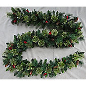 Christmas Garland 2.7m With Pine Cones and Berries