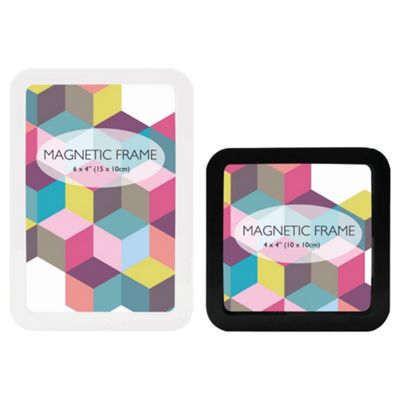 Tesco Magnetic Frame Set Of 2 Black And White