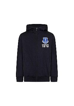 Everton FC Boys Zip Hoody - Blue