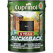 Cuprinol 5 Year Ducksback - Black - 5L