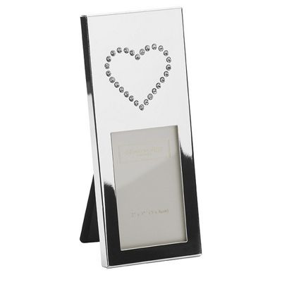 Addison Ross Message Photo Frame Heart Silver Plate Frame