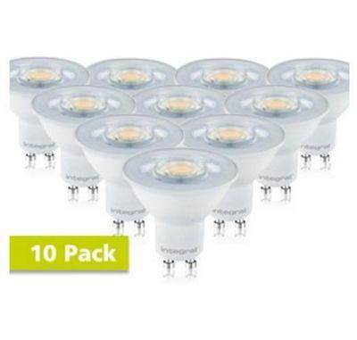 Integral LED GU10 Classic PAR16 4.7W (55W) 4000K 420lm Non-Dimmable Spotlight Light Bulb - 10 Pack