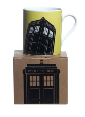 Doctor Who Homeware Boxed Mug Yellow Tardis Single