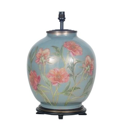 Coral Peony Large Round Base Only