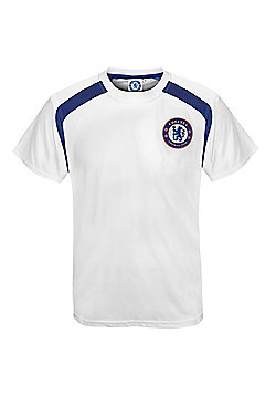 Chelsea FC Boys Poly T-Shirt - White
