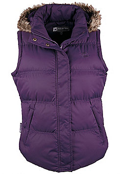 Beglin Womens Padded Gilet Top Insulated Bodywarmer Zipped Pockets Body Warmer - Purple
