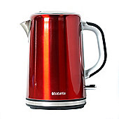 Brabantia BBEK1001-R 1.7 Litre Soft Grip Jug Kettle - Red & Brushed Stainless Steel