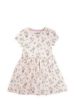 F&F Bunny Print Skater Dress - Pink