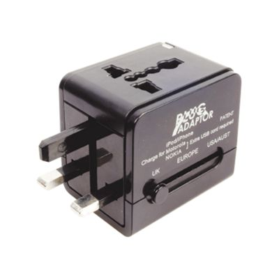Worldwide Travel Adaptor with 1A USB Charger
